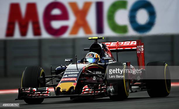 Carlos Sainz of Spain and Scuderia Toro Rosso drives during practice for the Formula One Grand Prix of Mexico at Autodromo Hermanos Rodriguez on...