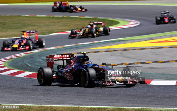 Carlos Sainz of Spain and Scuderia Toro Rosso drives during the Spanish Formula One Grand Prix at Circuit de Catalunya on May 10 2015 in Montmelo...