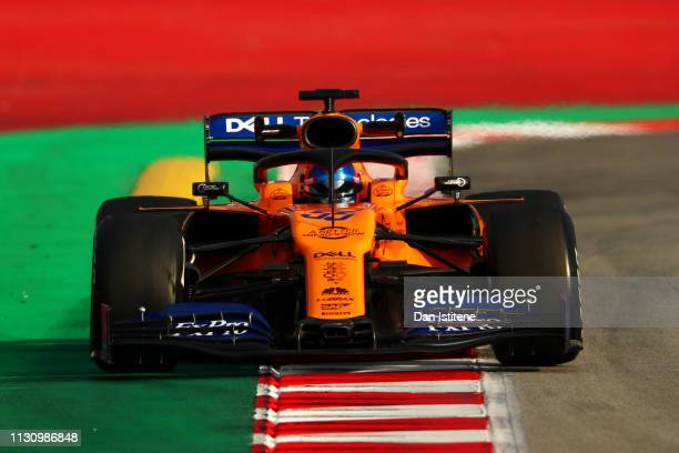 Carlos Sainz of Spain driving the McLaren F1 Team MCL34 Renault during day three of F1 Winter Testing at Circuit de Catalunya on February 20 2019 in...