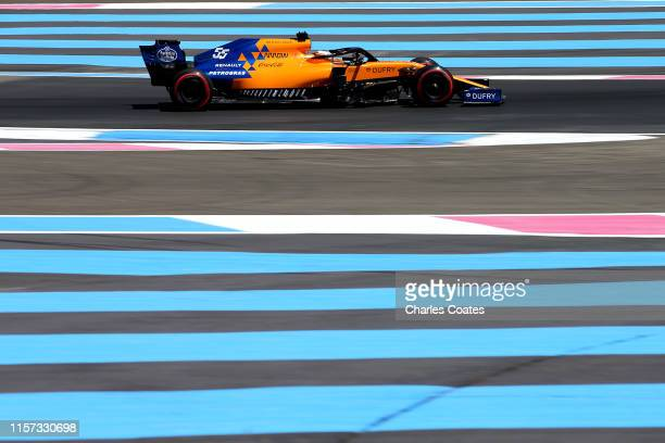 Carlos Sainz of Spain driving the McLaren F1 Team MCL34 Renault on track during practice for the F1 Grand Prix of France at Circuit Paul Ricard on...