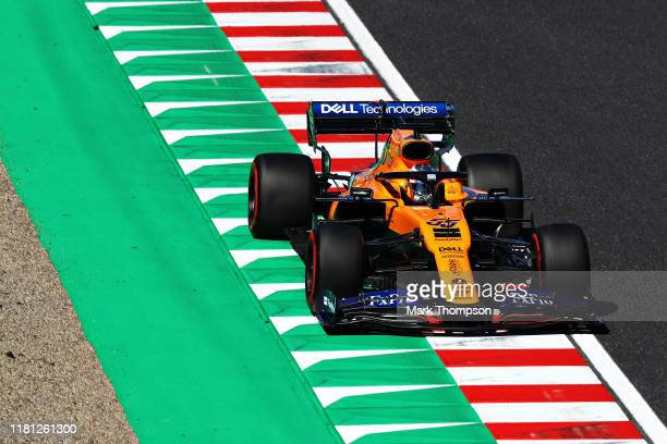 Carlos Sainz of Spain driving the McLaren F1 Team MCL34 Renault on track during qualifying for the F1 Grand Prix of Japan at Suzuka Circuit on...