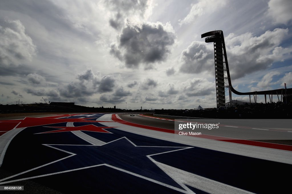 Carlos Sainz of Spain driving the (55) Renault Sport Formula One Team Renault RS17 on track during practice for the United States Formula One Grand Prix at Circuit of The Americas on October 20, 2017 in Austin, Texas.