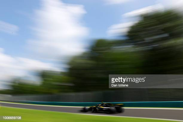 Carlos Sainz of Spain driving the Renault Sport Formula One Team RS18 on track during final practice for the Formula One Grand Prix of Hungary at...