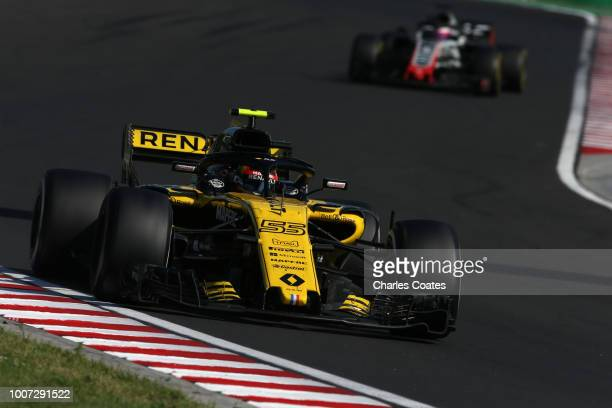 Carlos Sainz of Spain driving the Renault Sport Formula One Team RS18 on track during the Formula One Grand Prix of Hungary at Hungaroring on July 29...
