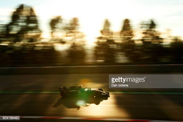 Carlos Sainz of Spain driving the Renault Sport Formula One Team RS18 on track during day four of F1 Winter Testing at Circuit de Catalunya on March...