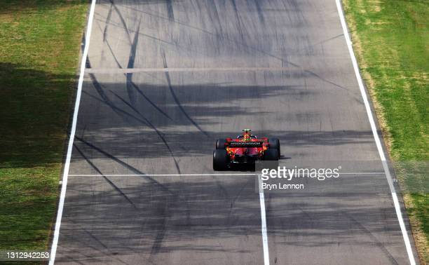 Carlos Sainz of Spain driving the Scuderia Ferrari SF21 on track during final practice ahead of the F1 Grand Prix of Emilia Romagna at Autodromo Enzo...