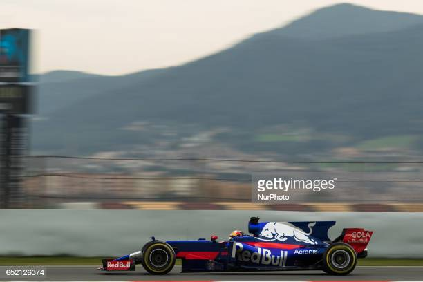 Carlos Sainz of Spain driving the Scuderia Toro Rosso STR12 in action during the Formula One winter testing at Circuit de Catalunya on March 10 2017...