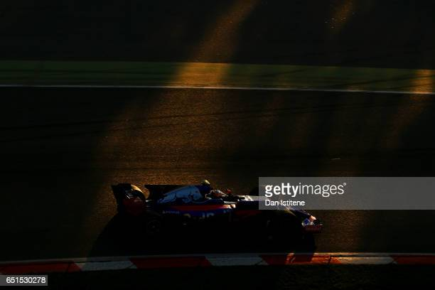Carlos Sainz of Spain driving the Scuderia Toro Rosso STR12 on track during the final day of Formula One winter testing at Circuit de Catalunya on...