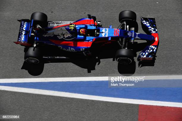 Carlos Sainz of Spain driving the Scuderia Toro Rosso STR12 on track during practice for the Spanish Formula One Grand Prix at Circuit de Catalunya...