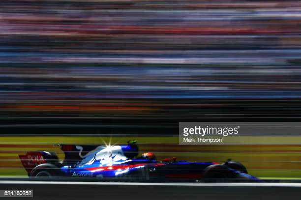Carlos Sainz of Spain driving the Scuderia Toro Rosso STR12 on track during final practice for the Formula One Grand Prix of Hungary at Hungaroring...