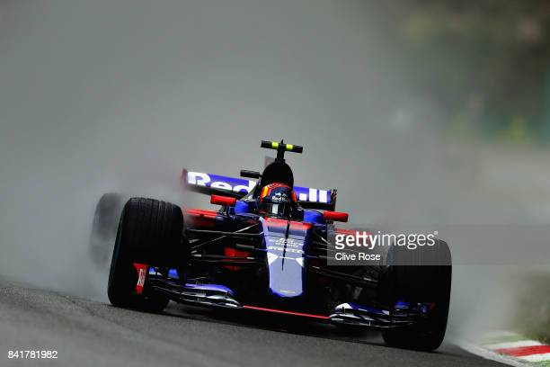 Carlos Sainz of Spain driving the Scuderia Toro Rosso STR12 on track during final practice for the Formula One Grand Prix of Italy at Autodromo di...