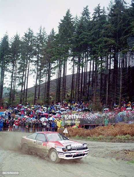 Carlos Sainz of Spain driving the Toyota Team Europe Toyota Celica GT4 during the FIA World Rally Championship 46th Lombard RAC Rally on 26 November...