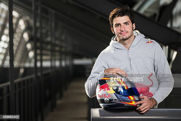 Carlos Sainz of Spain poses on November 28 2014 in Spielberg Austria F1 Team Scuderia Toro Rosso annouced Carlos Sainz as their driver for 2015