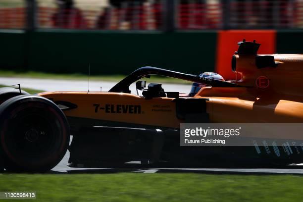 Carlos SAINZ of Team McLaren-Renault in 1st practice on day 2 of the 2019 Formula 1 Australian Grand Prix