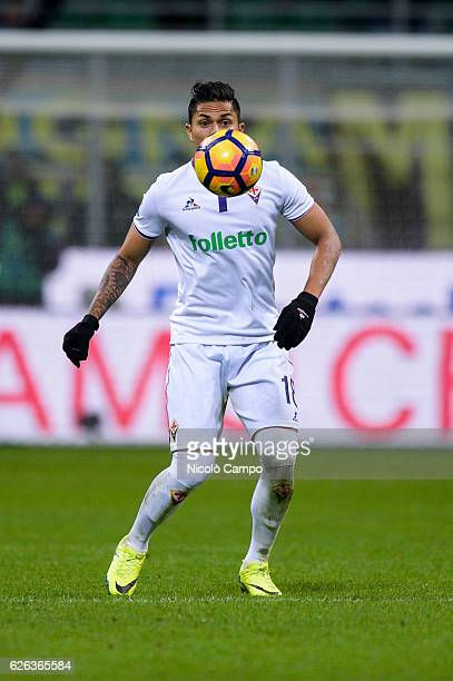 Carlos Salcedo of ACF Fiorentina in action during the Serie A football match between FC Internazionale and ACF Fiorentina FC Internazionale wins 42...