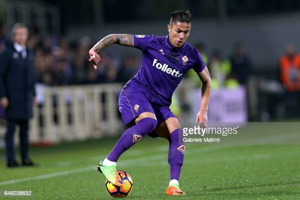 Carlos Salcedo of ACF Fiorentina in action during the Serie A match between ACF Fiorentina and FC Torino at Stadio Artemio Franchi on February 27...