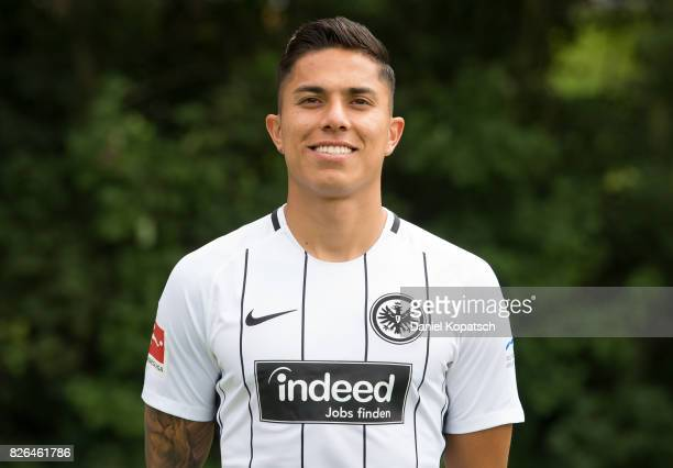 Carlos Salcedo of Eintracht Frankfurt poses during the team presentation at on August 4 2017 in Frankfurt am Main Germany