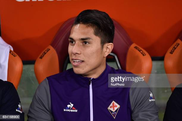 Carlos Salcedo of Fiorentina during the Serie A match between Roma and Fiorentina at Olympic Stadium Roma Italy on 07 Feb 2017 Photo by Giuseppe...