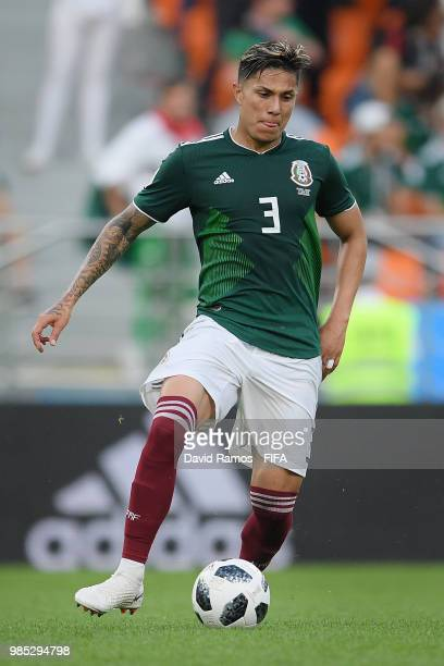 Carlos Salcedo of Mexico during the 2018 FIFA World Cup Russia group F match between Mexico and Sweden at Ekaterinburg Arena on June 27 2018 in...