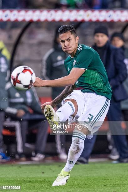 Carlos Salcedo of Mexico during the friendly match between Belgium and Mexico on November 10 2017 at the Koning Boudewijn stadium in Brussels Belgium