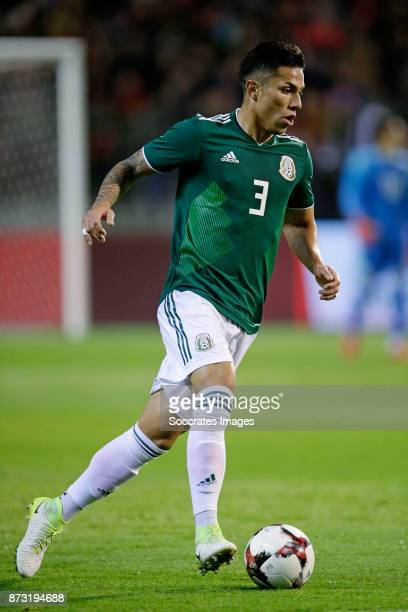 Carlos Salcedo of Mexico during the International Friendly match between Belgium v Mexico at the Koning Boudewijnstadion on November 10 2017 in...