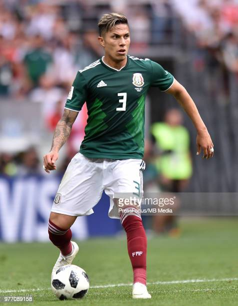 Carlos Salcedo of Mexico in action during the 2018 FIFA World Cup Russia group F match between Germany and Mexico at Luzhniki Stadium on June 17 2018...