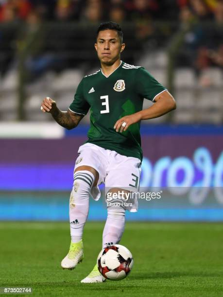 Carlos Salcedo of Mexico in action during the international friendly match between Belgium and Mexico at King Baudouin Stadium on November 10 2017 in...