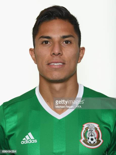 Carlos Salcedo poses for a picture during the Mexico team portrait session on June 14 2017 in Kazan Russia