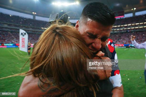 Carlos Salcido of Chivas celebrates after the Final second leg match between Chivas and Tigres UANL as part of the Torneo Clausura 2017 Liga MX at...