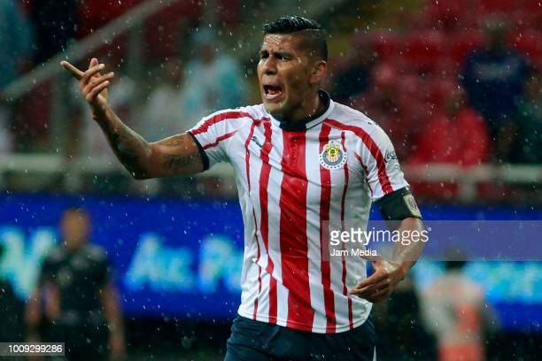Carlos Salcido of Chivas during the 2nd round match between Chivas and Cruz Azul as part of the Torneo Apertura 2018 Liga MX at Akron Stadium on July...