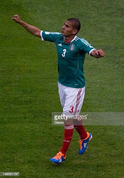 Carlos Salcido of Mexico celebrates a goal during a match of soccer between Mexico and Guyana as part of the CONCACAF Qualifiers for the World Cup...