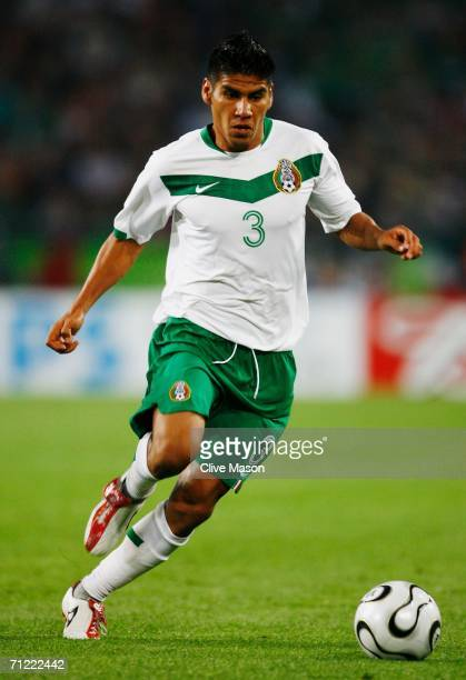 Carlos Salcido of Mexico in action during the FIFA World Cup Germany 2006 Group D match between Mexico and Angola played at the Stadium Hanover on...