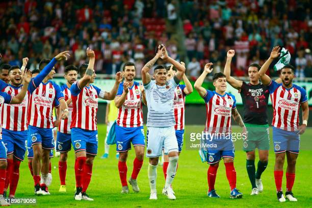 Carlos Salcido of Veracruz farewell during the 19th round match between Chivas and Veracruz as part of the Torneo Apertura 2019 Liga MX at Akron...