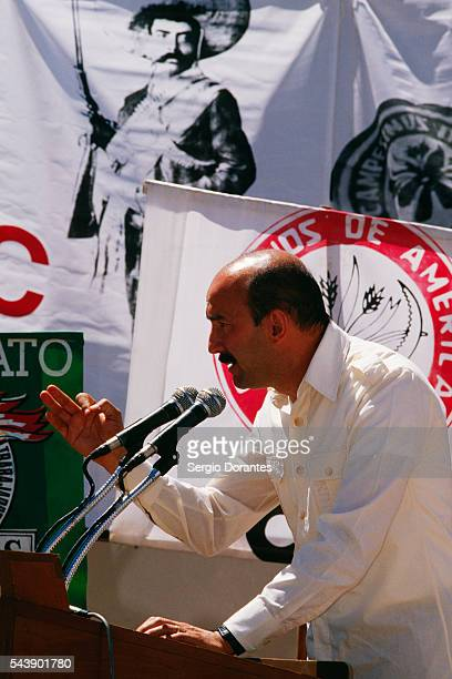 Carlos Salinas Campaigning for Mexico's Presidential Election