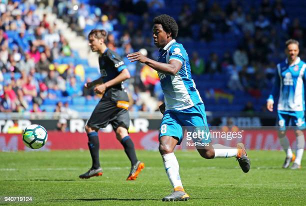 Carlos Sanchez during the match between RCD Espanyol and Depoortivo Alaves for the round 30 of the Liga Santander played at the RCD Espanyol Stadium...