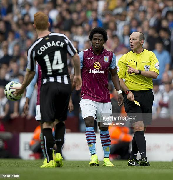 Carlos Sanchez of Aston Villa during the Barclays Premier League match between Aston Villa and Newcastle United at Villa Park on August 23 2014 in...