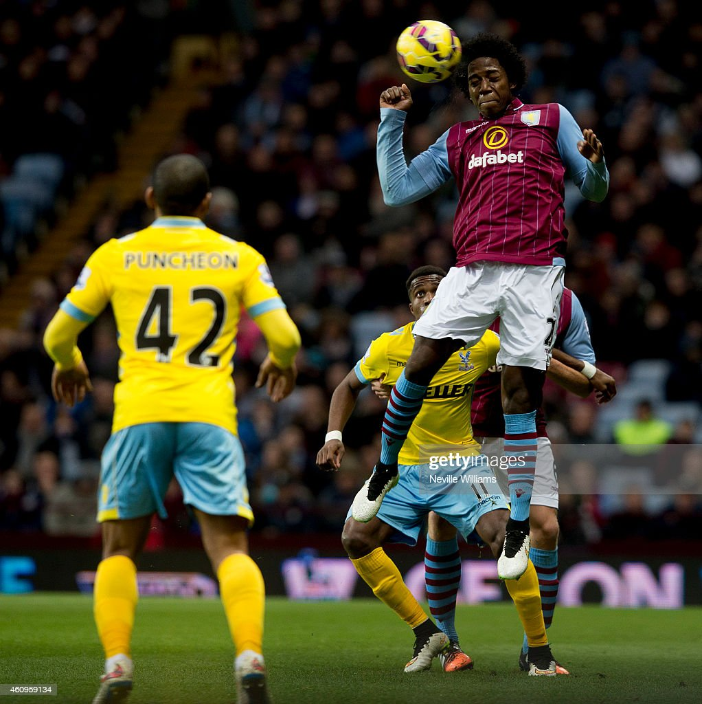 Carlos Sanchez of Aston Villa during the Barclays Premier League match between Aston Villa and Crystal Palace at Villa Park on January 01, 2015 in Birmingham, England.