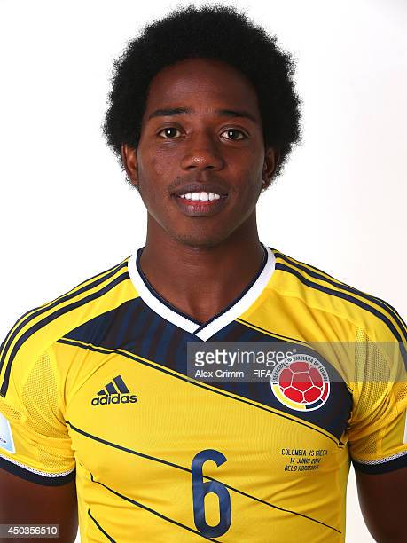 Carlos Sanchez of Colombia poses during the official FIFA World Cup 2014 portrait session on June 9 2014 in Sao Paulo Brazil