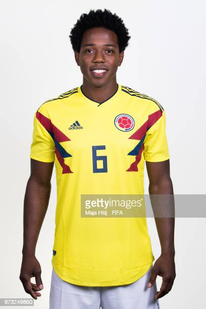 Carlos Sanchez of Colombia poses for a portrait during the official FIFA World Cup 2018 portrait session at Kazan Ski Resort on June 13 2018 in Kazan...