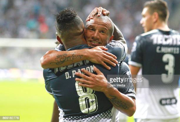 Carlos Sanchez of Monterrey celebrates after scoring the second goal of his team during the quarter final match between Monterrey and Santos Laguna...