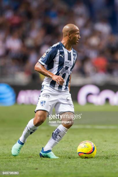 Carlos Sanchez of Monterrey drives the ball during the 16th round match between Monterrey and Lobos BUAP as part of the Torneo Clausura 2018 Liga MX...