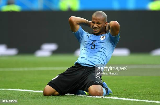 Carlos Sanchez of Uruguay reacts during the 2018 FIFA World Cup Russia group A match between Uruguay and Saudi Arabia at Rostov Arena on June 20 2018...