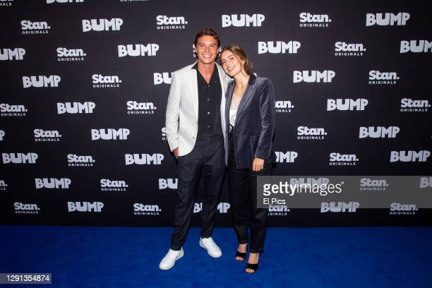 Carlos Sanson Jnr and Nathalie Morris attend the official premiere of Stans new series 'Bump' at Glebe technical Collage Sydney December 15, 2020 in...