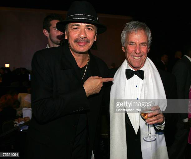 Carlos Santana and Burt Bacharach at the Clive Davis' 2006 PreGRAMMY Awards Party Dinner at Beverly Hilton Hotel in Beverly Hills California