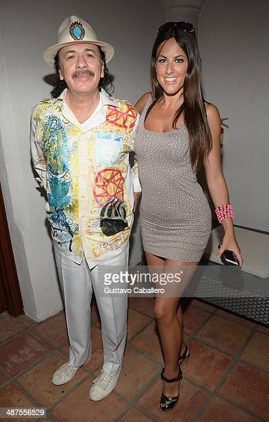 Carlos Santana and Claudia Romani attend a fireside chat with Carlos Santana during a special screening of Santana de Corazon hosted by HBO Latino at...