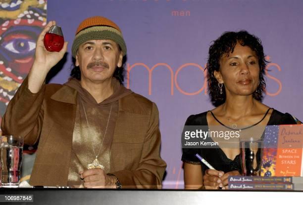 Carlos Santana and Deborah Santana during Carlos and Deborah Santana InStore Appearance For Carlos's New Fragrance Carlos Santana June 5 2006 at...