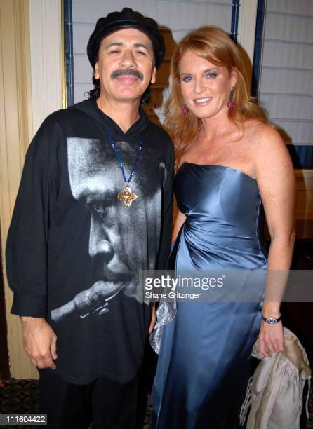 Carlos Santana and Sarah Ferguson Duchess of York