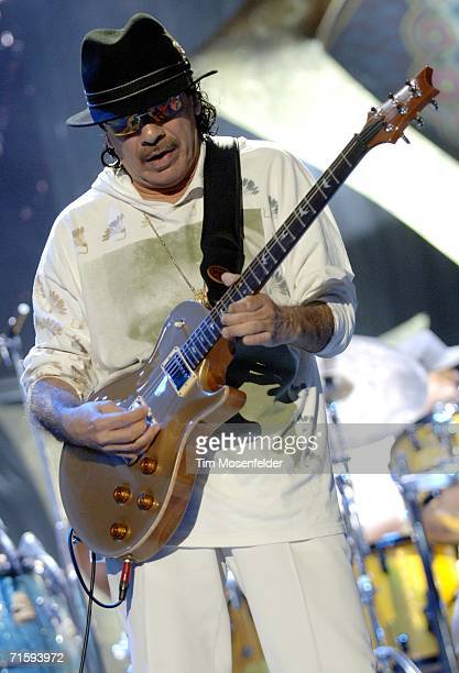 Carlos Santana and the Santana Band perform part of their Summer Tour 2006 at Shoreline Amphitheatre on August 5 2006 in Mountain View California