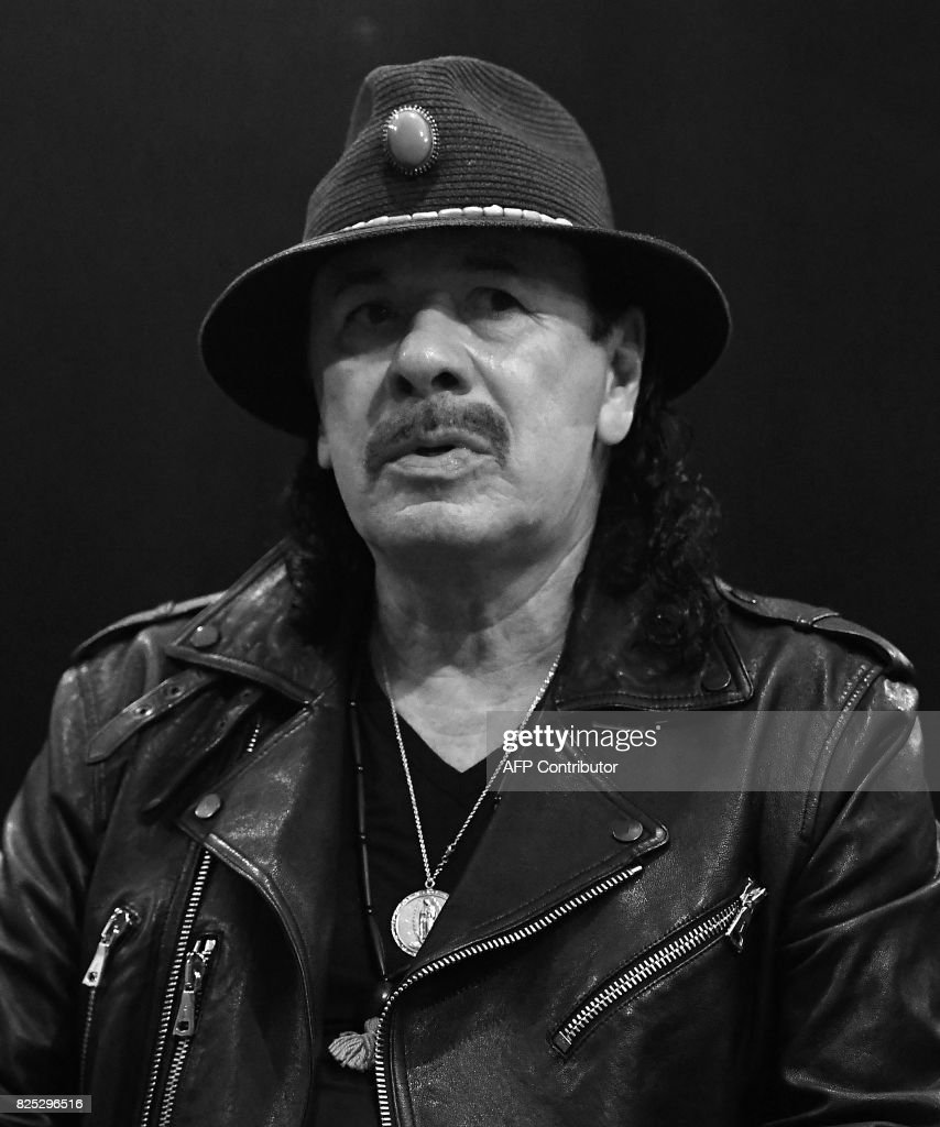 Carlos Santana attends the Santana and The Isley Brothers press conference to promote the new album 'Power of Peace' at Electric Lady Studio on August 1, 2017 in New York City. /