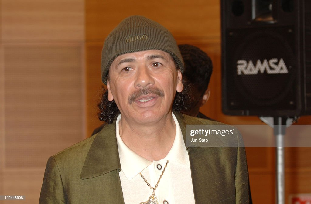 Carlos Santana during Carlos Santana, Herbie Hancock And Wayne Shorter - Emissaries for Peace Tour - Tokyo Press Conference - July 26, 2005 at Min-On Culture Center in Tokyo, Japan.